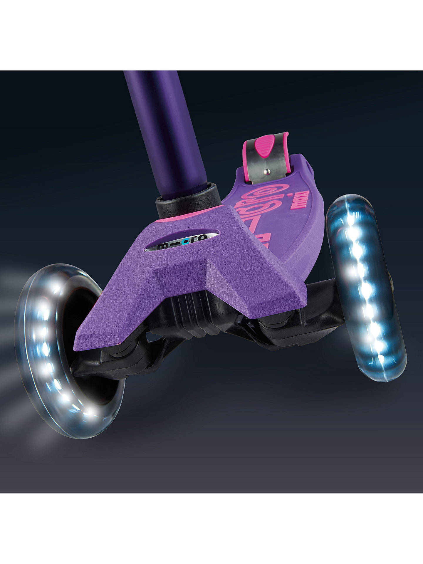 Buy Maxi Micro Deluxe LED Scooter, 5-12 years, Purple Online at johnlewis.com