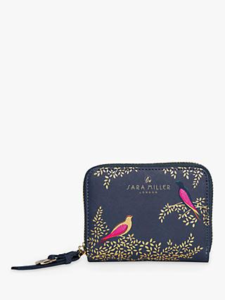 Sara Miller Playing Birds Print Small Zip Around Purse