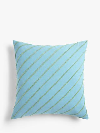 House by John Lewis Boucle Stripe Square Cushion