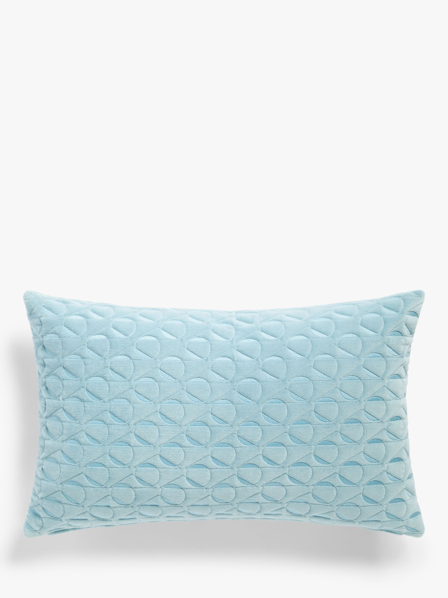 Buy John Lewis & Partners Eave Quilting Cushion, Powder Blue Online at johnlewis.com