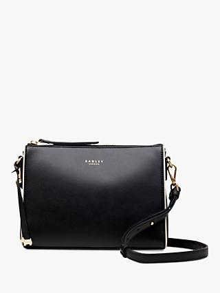 36092cfa0 Radley Selby Street Leather Small Zip Top Cross Body Bag, Black