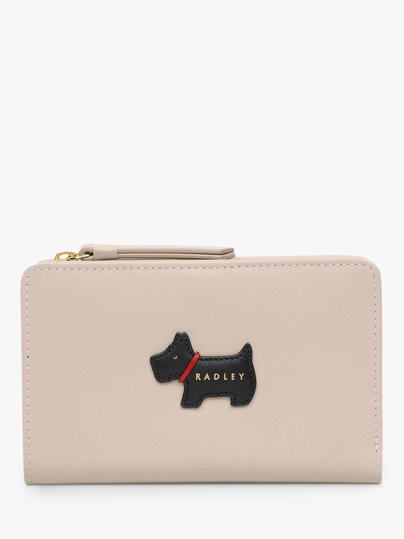 Radley Radley Heritage Dog Medium Leather Zip Purse, Dove Grey
