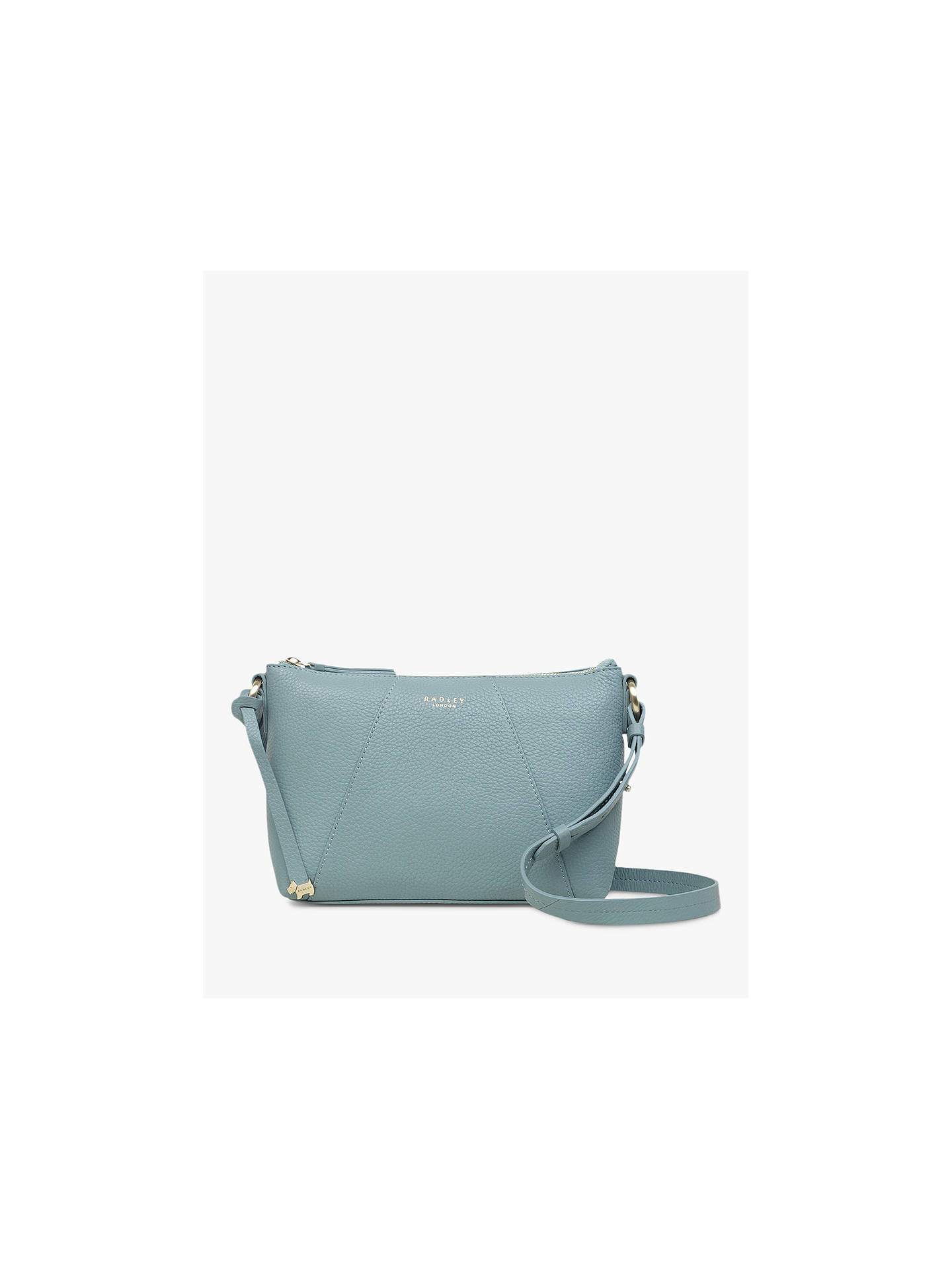 Buy Radley Wood Street Medium Leather Zip Top Cross Body Bag, Teal Online at johnlewis.com