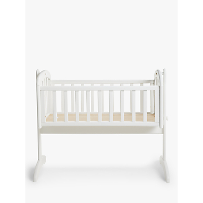 John Lewis & Partners Anna Swinging Crib, White