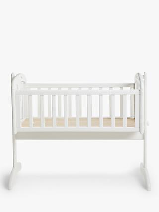 John Lewis & Partners Anna Swinging Crib, White