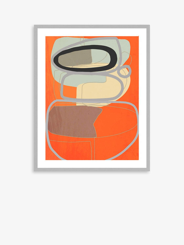 Unbranded Adrian Bradbury - Coastal Path Wood Framed Print & Mount, 82 x 62cm, Orange