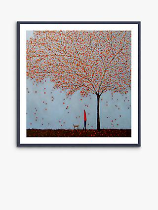 Emma Brownjohn - Between The Leaves Wood Framed Print & Mount, 62 x 62cm, Red/Multi