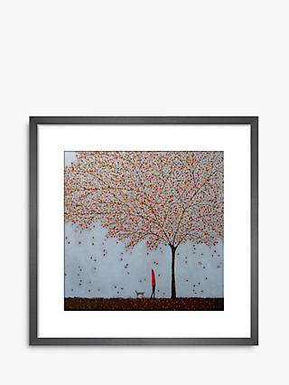 Emma Brownjohn - Between The Leaves Wood Framed Print & Mount, 42 x 42cm, Red/Multi