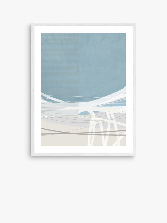 Unbranded Adrian Bradbury - Bay 30 Wood Framed Print & Mount, 82 x 62cm, Light Blue