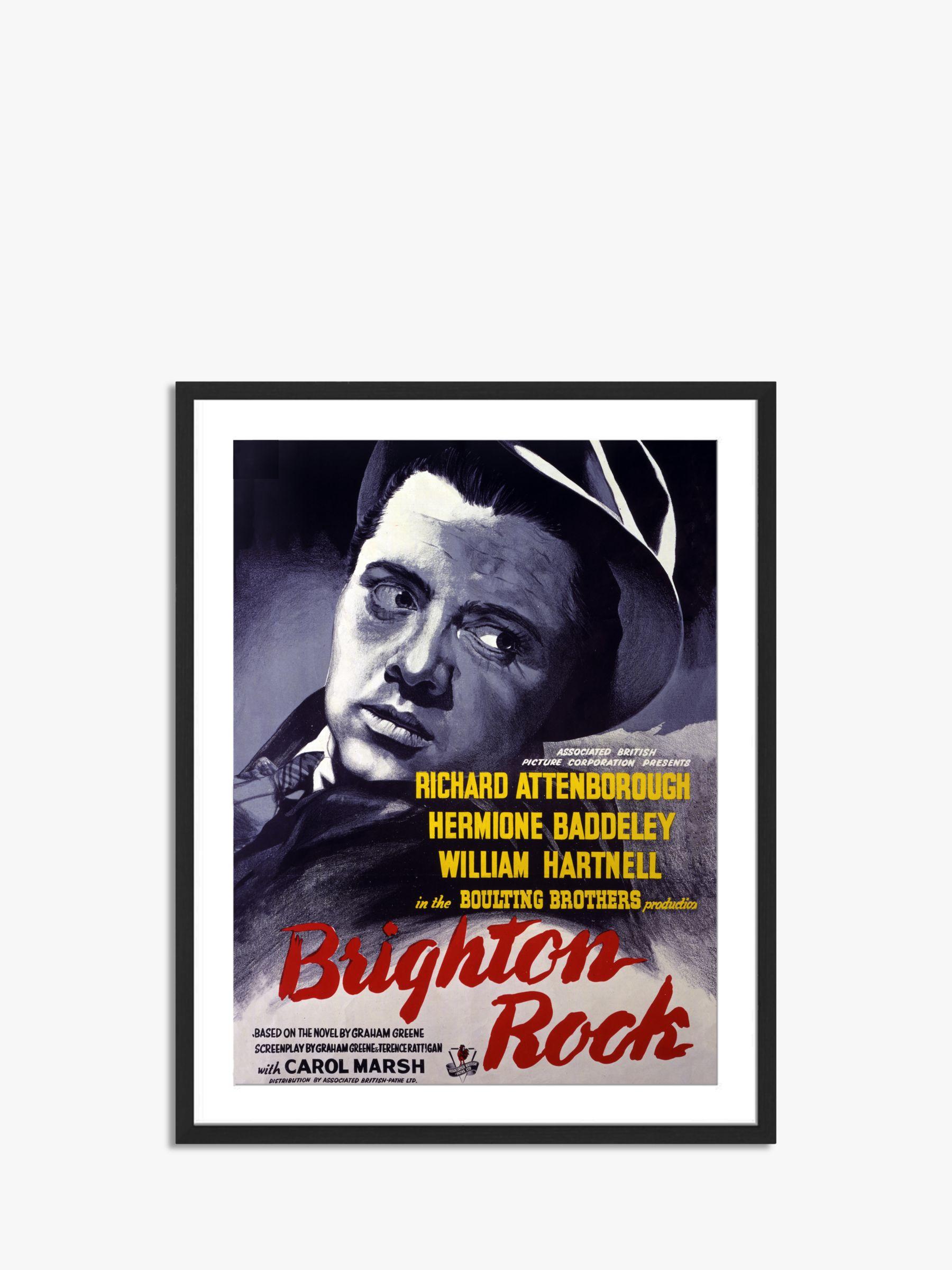 Unbranded Brighton Rock - Vintage Film Poster Ash Wood Framed Print & Mount, 82 x 62cm, Grey/Multi