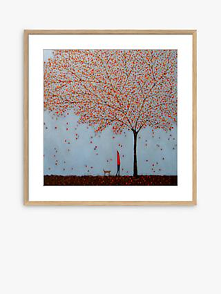 Emma Brownjohn - Between The Leaves Wood Framed Print & Mount, 42 x 42cm, Red/Natural