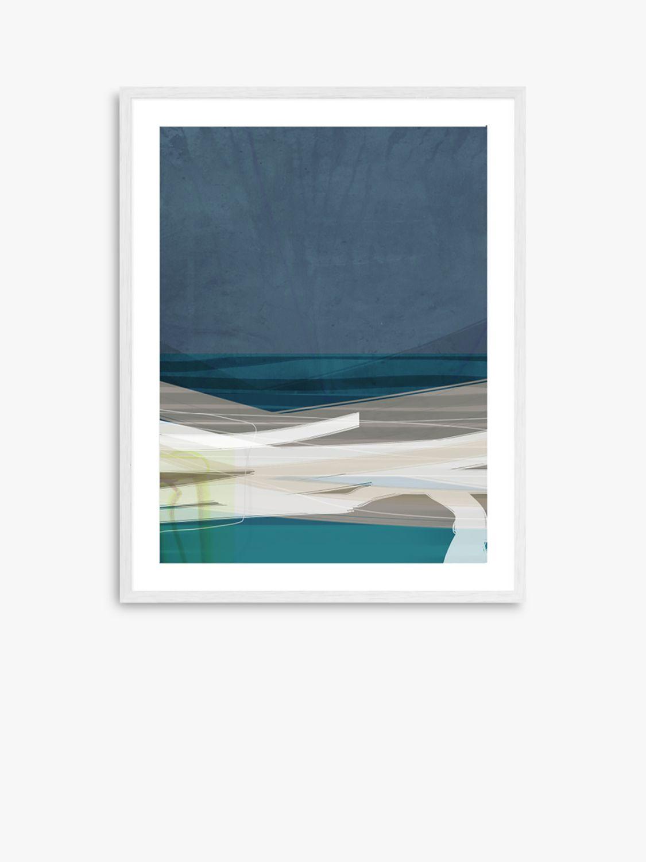 Unbranded Adrian Bradbury - Bay 31 Wood Framed Print & Mount, 82 x 62cm, Blue