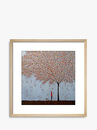 Emma Brownjohn - Between The Leaves Wood Framed Print & Mount, 62 x 62cm, Red/Natural