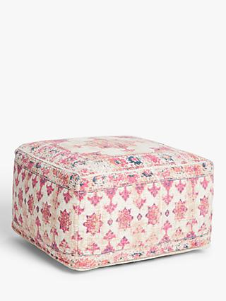 John Lewis & Partners Distressed Medallion Pouffe, Multi