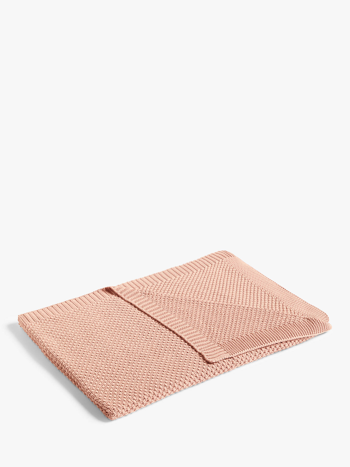 Buy John Lewis & Partners Textured Knit Throw, Woodrose Online at johnlewis.com