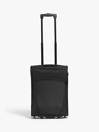 John Lewis & Partners Cannes 53cm 2-Wheel Cabin Case, Black