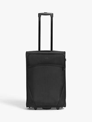 John Lewis & Partners Cannes 63cm 2-Wheel Medium Suitcase, Black