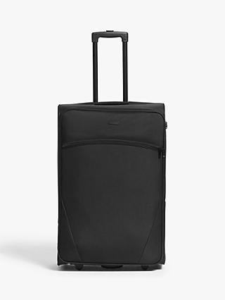 John Lewis & Partners Cannes 73cm 2-Wheel Large Suitcase, Black