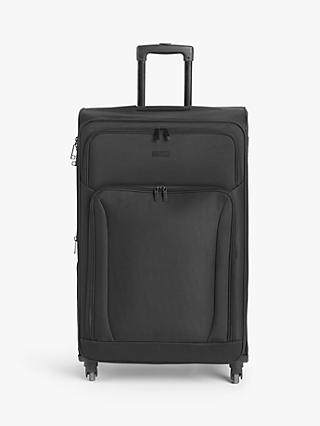 John Lewis & Partners Melbourne 77cm 4-Wheel Large Suitcase, Black