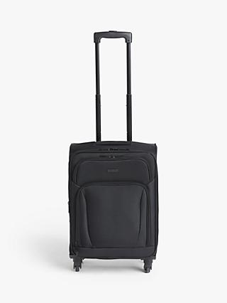 John Lewis & Partners Melbourne 55cm 4-Wheel Cabin Case, Black