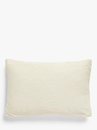 John Lewis & Partners Rib Knit Rectangular Cushion