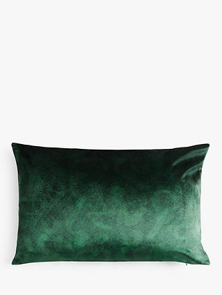 Buy John Lewis & Partners Italian Velvet Rectangular Cushion, Emerald Online at johnlewis.com