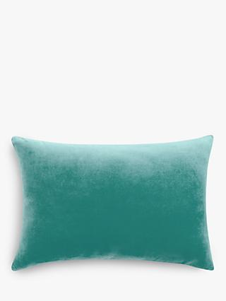 John Lewis & Partners Rectangular Cotton Velvet Cushion