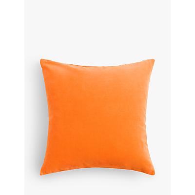 John Lewis & Partners Cotton Velvet Cushion