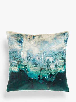 John Lewis & Partners Alba Abstract Cushion, Green / Multi