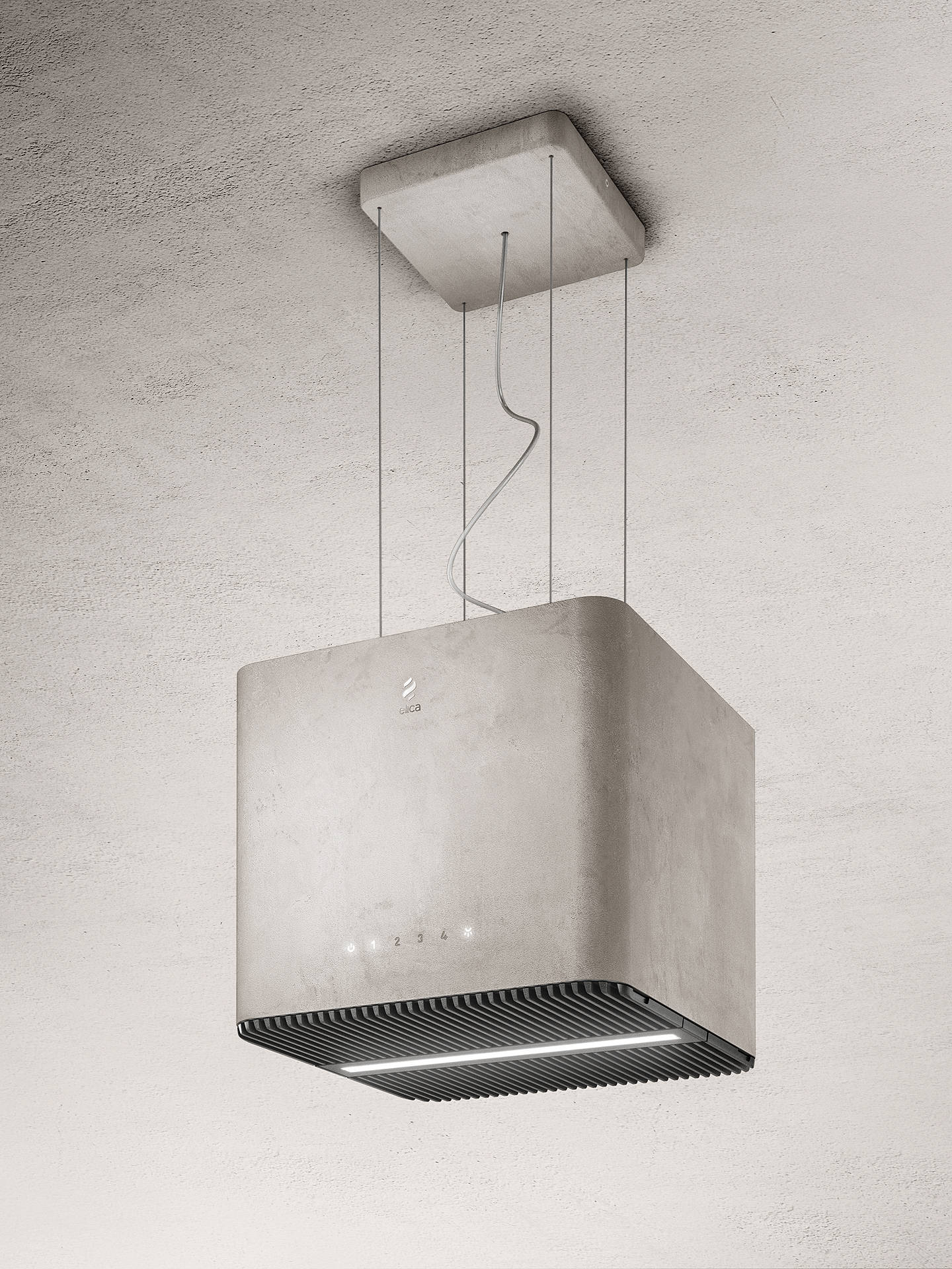 Buy Elica Pix Pendant Cooker Hood, Concrete Grey Online at johnlewis.com
