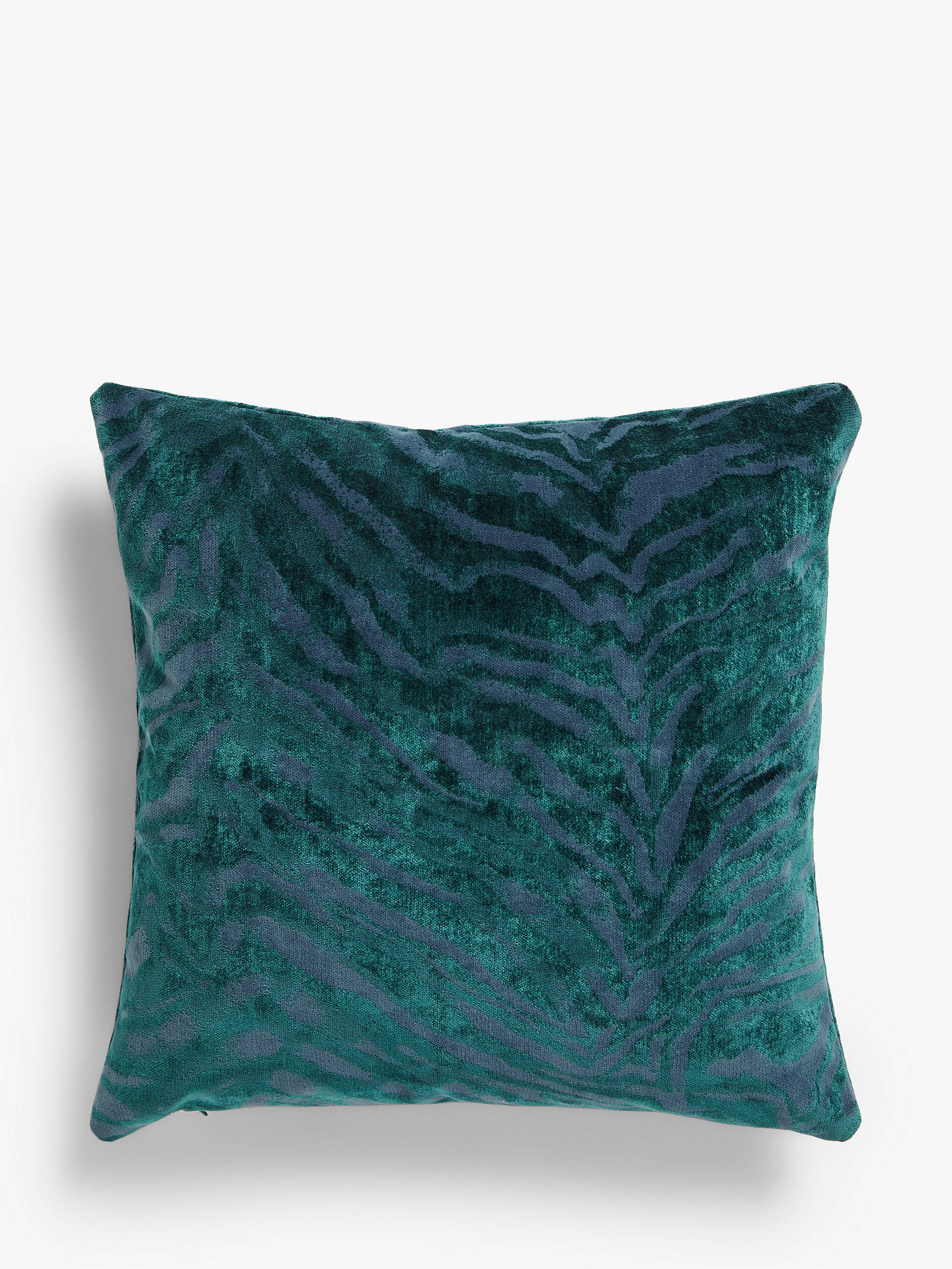 Buy John Lewis & Partners Zebra Cushion, Blue Online at johnlewis.com
