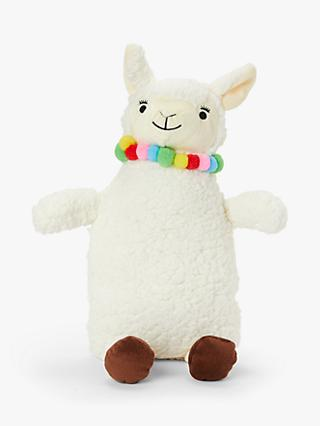 John Lewis & Partners Llama Hot Water Bottle, White
