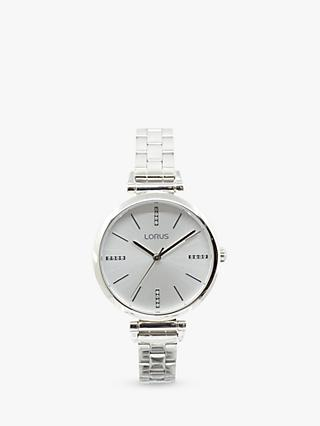 Lorus Women's Crystal Bracelet Strap Watch