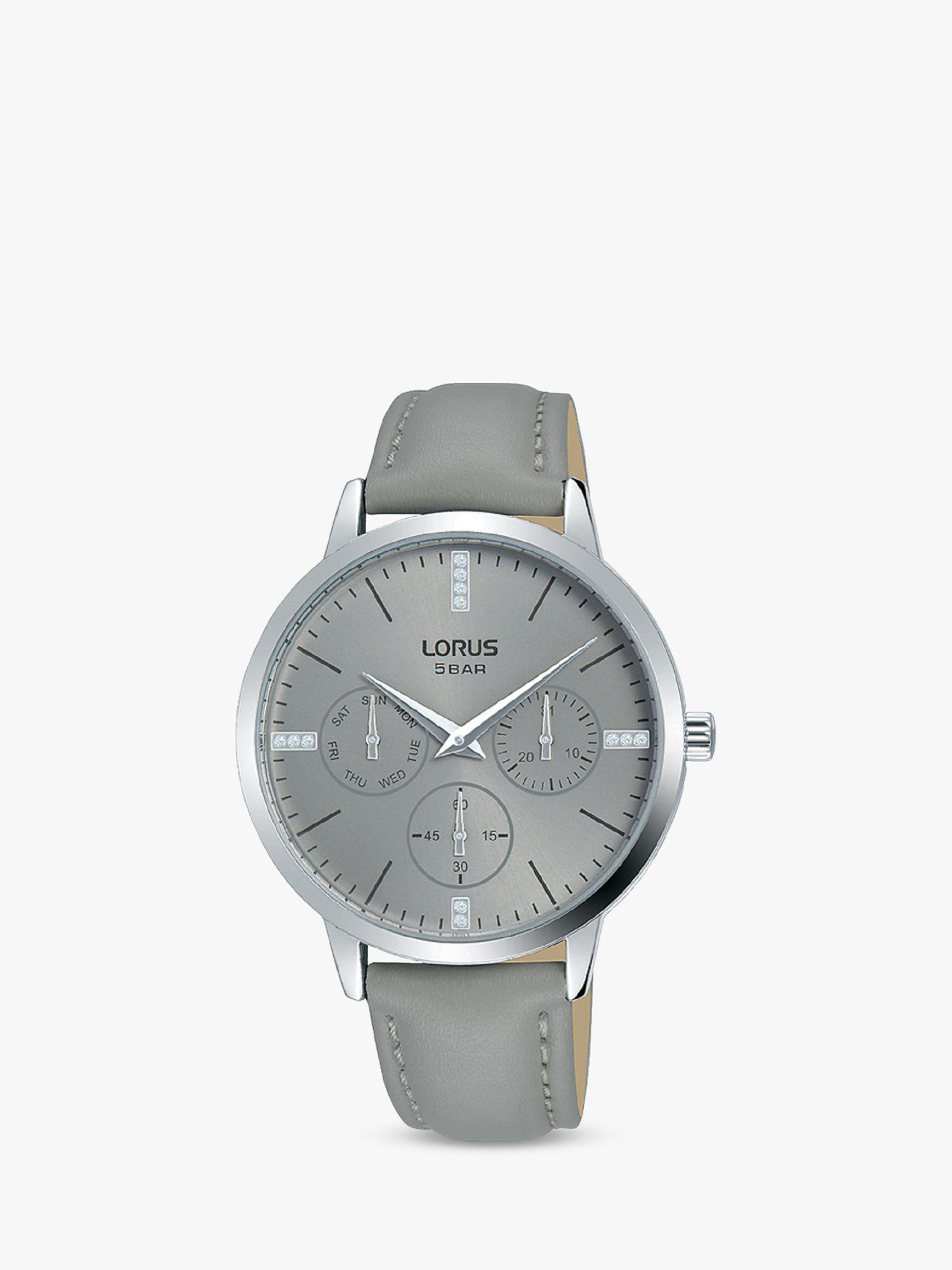 Lorus Lorus RP635DX9 Women's Single Chronograph Crystal Leather Strap Watch, Grey