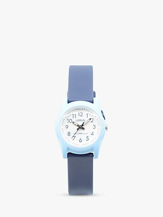 Lorus Children's Silicone Strap Watch, Navy/White R2385MX9