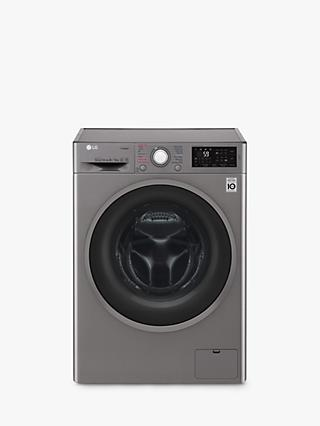 LG FWJ685SS Freestanding Washer Dryer, 8kg Wash/5kg Dry Load, A Energy Rating, 1400rpm Spin, Graphite