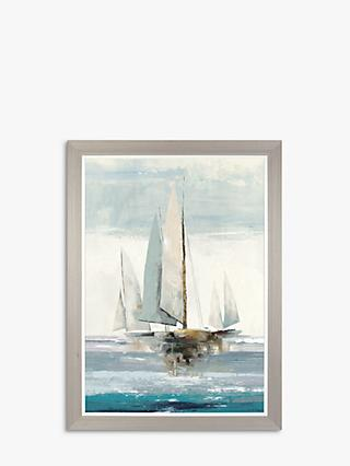 Allison Pearce - Full Sails Framed Canvas Print, 104 x 77cm, Blue/Multi