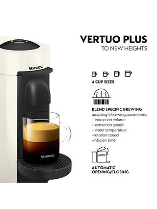 Buy Nespresso Vertuo Plus Coffee Machine by Magimix, White Online at johnlewis.com