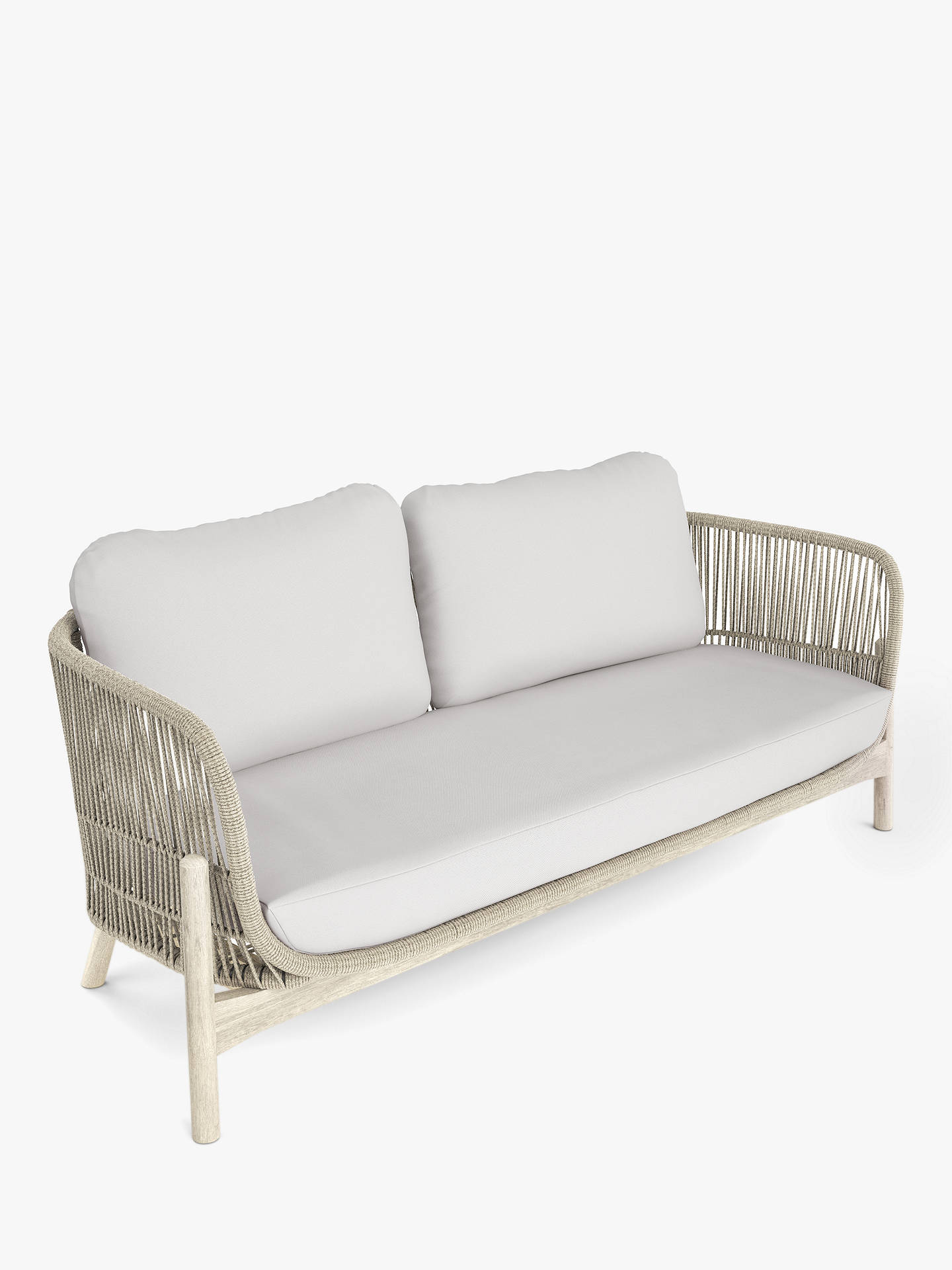 John Lewis & Partners Cradle Rope 8-Seat Garden Sofa, FSC-Certified (Acacia  Wood), Natural