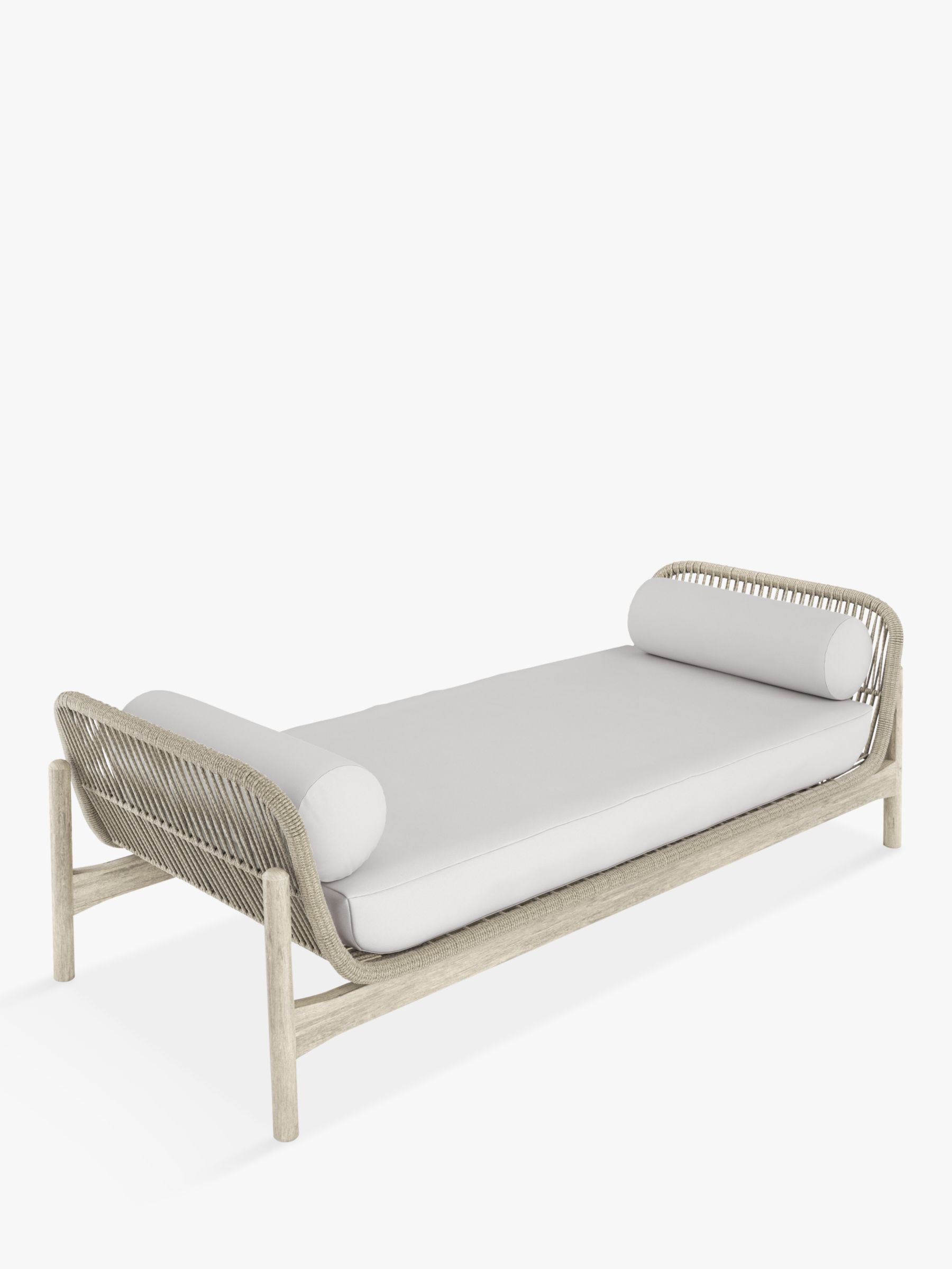 John Lewis & Partners Cradle Rope 2-Seat Garden Day Bed, FSC-Certified (Acacia Wood), Natural