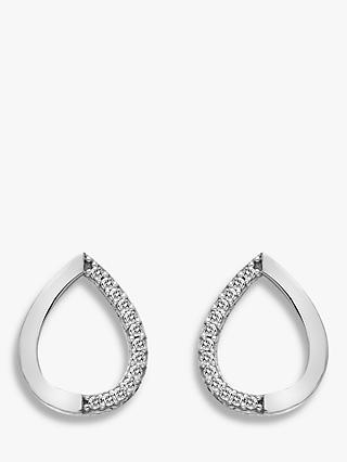 Hot Diamonds 9ct White Gold Teardrop Stud Earrings