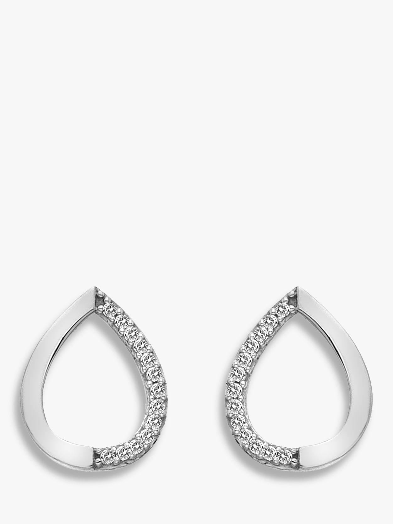 Hot Diamonds Hot Diamonds 9ct White Gold Teardrop Stud Earrings
