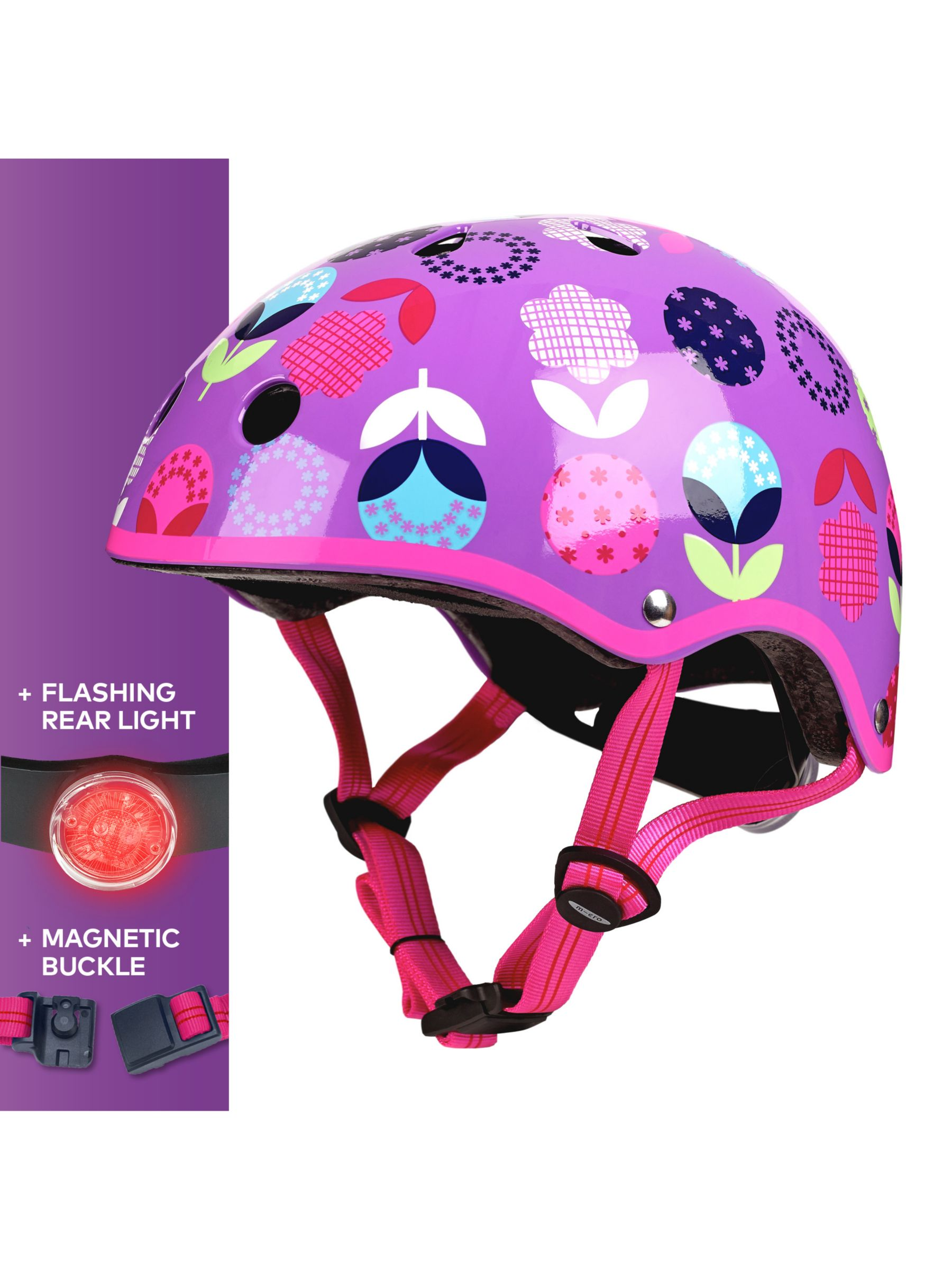 Micro Micro Deluxe Scooter Helmet, Floral Dot, Small
