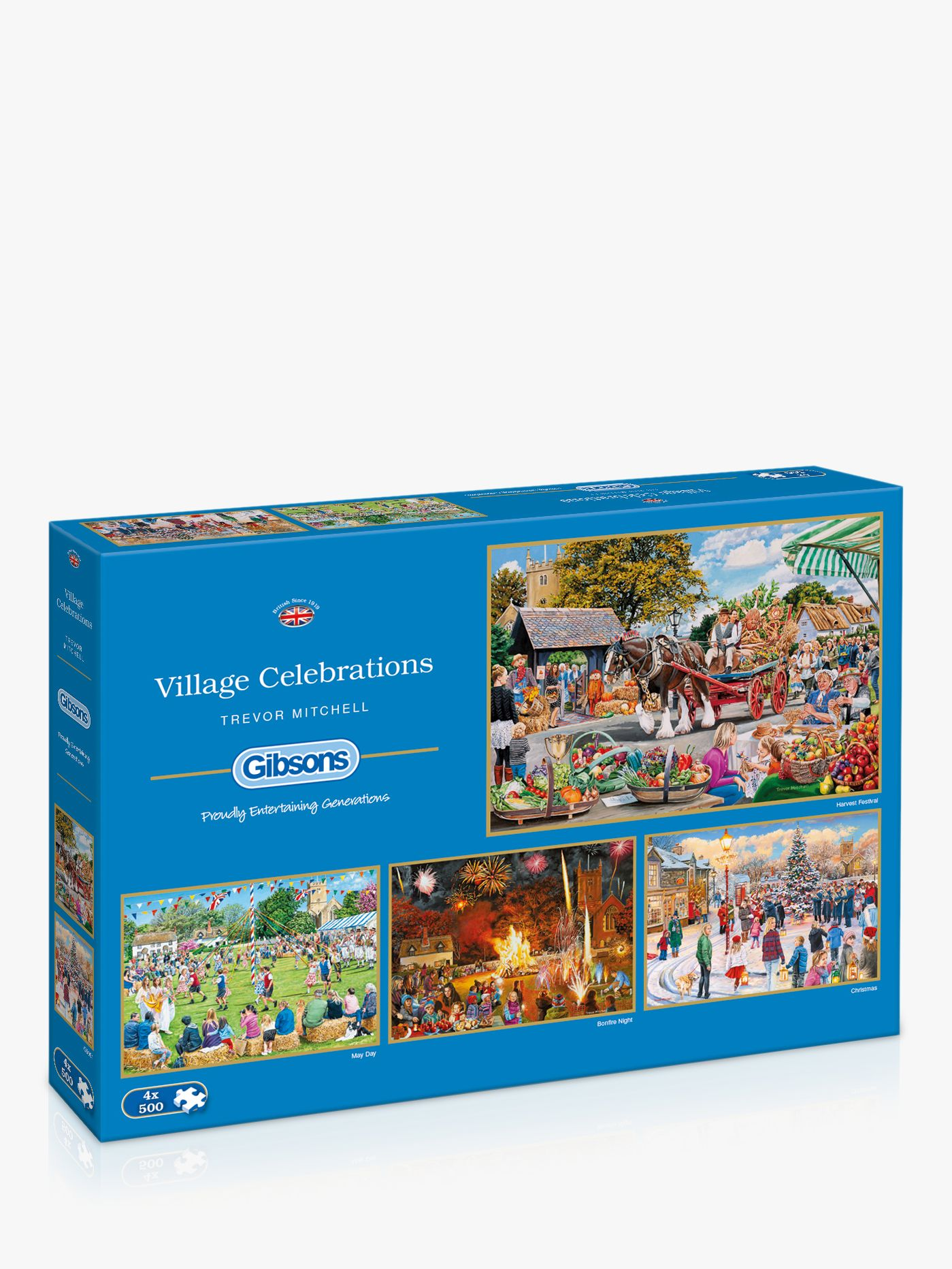 Gibsons Gibsons Village Celebrations 500 Piece Jigsaw Puzzle, Set of 4