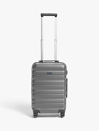 John Lewis & Partners Girona 55cm 4-Wheel Cabin Case, Grey