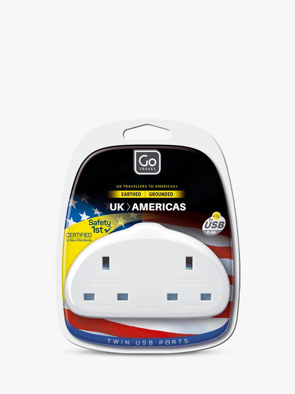 Go Travel Go Travel Duo USB UK to USA Travel Adaptor