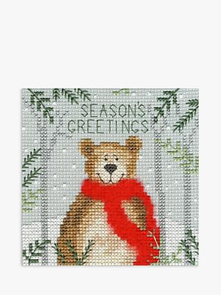Bothy Threads Christmas Bear Card Cross Stitch Kit