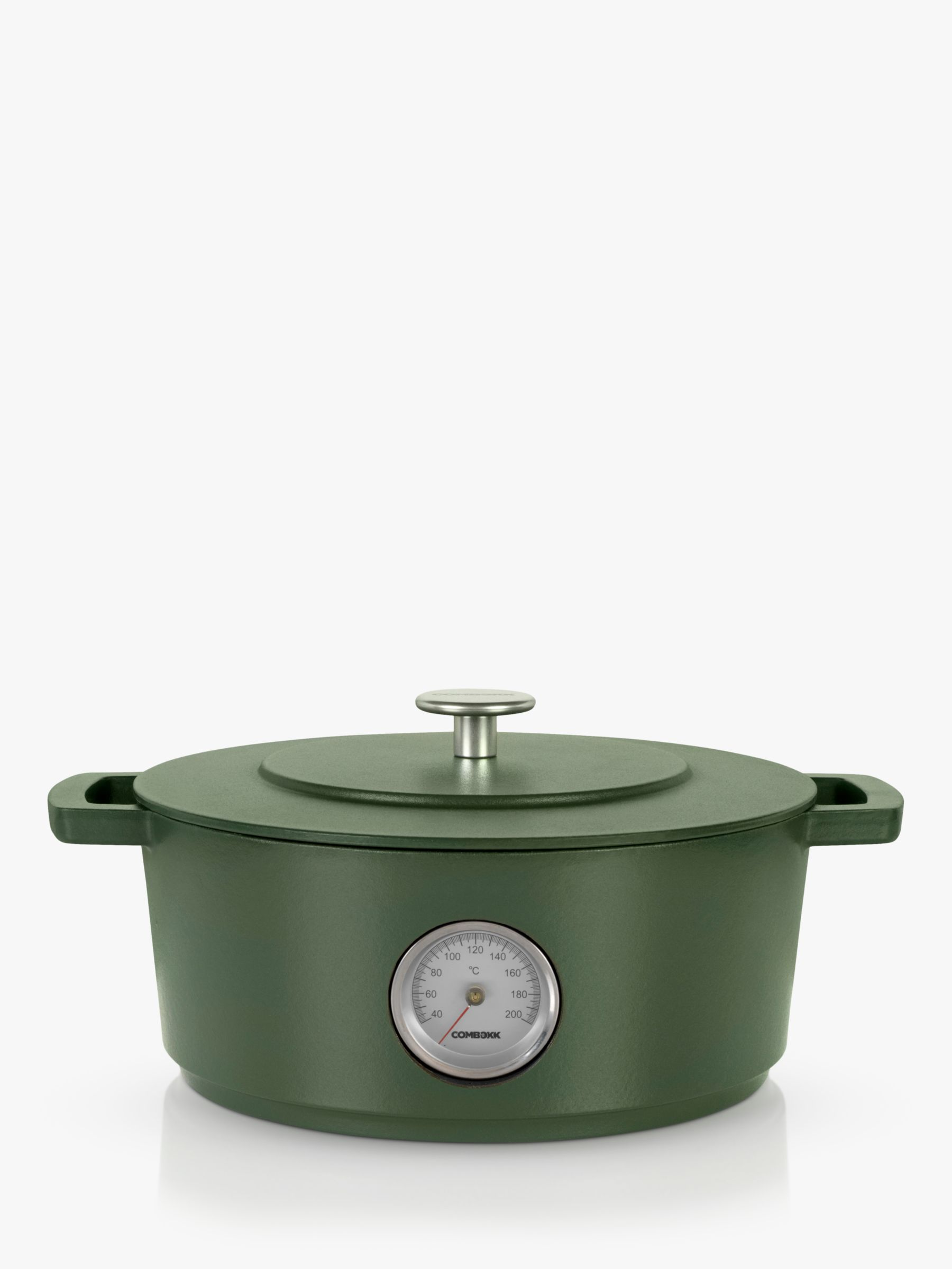 Combekk Recycled Cast Iron Dutch Oven Casserole with Thermometer, 28cm