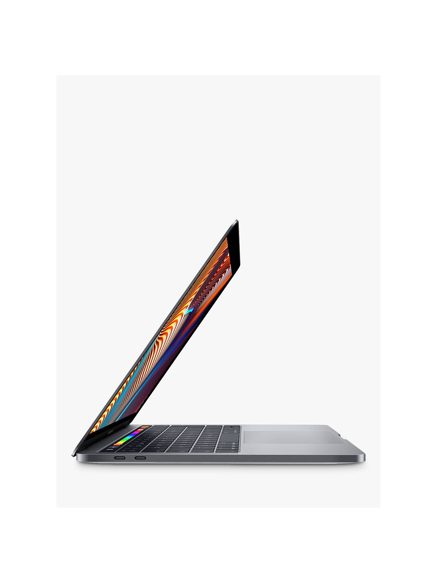 "Buy 2019 Apple MacBook Pro 13.3"" Touch Bar with Touch ID, Intel Core i5, 8GB RAM, 128GB SSD, Space Grey Online at johnlewis.com"