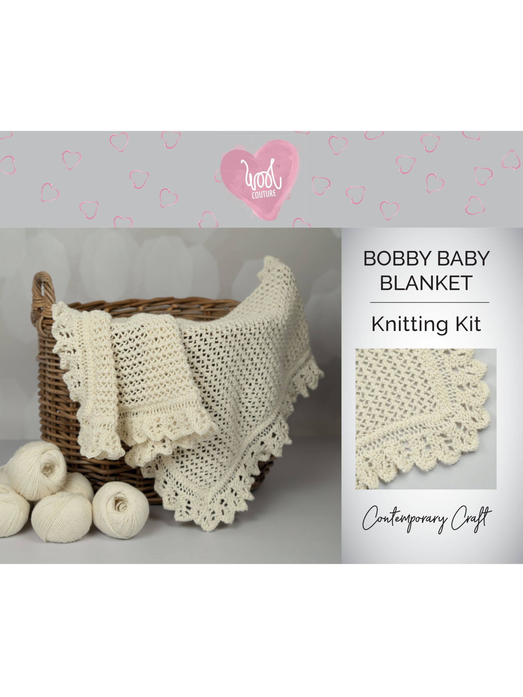 Wool Couture Bobby Baby Blanket Knitting Kit